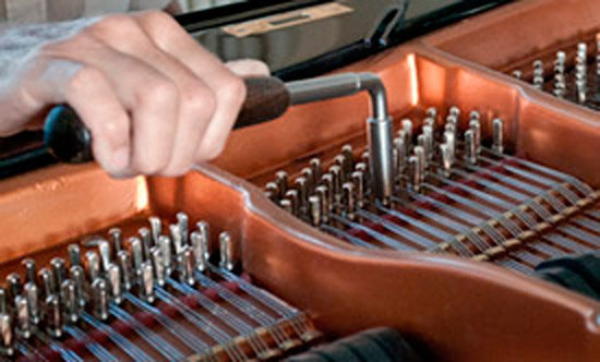 Tuning a Bosendorfer grand piano